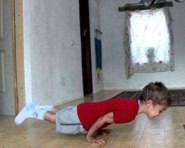 Criança De 5 Anos Faz Flexões De 90 Graus De Fazer Inveja a Muitos Adultos 6