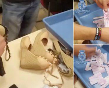 Polícia Espanhola Apanha 180.000 Euros Em Notas Dentro De Sapatos De Mulher 6
