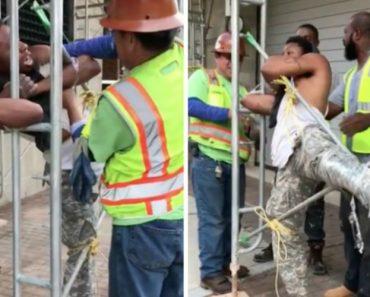 Trabalhadores Apanham Ladrão a Roubar Camião e Acabam Por Prendê-lo Ao Andaime Da Obra 2