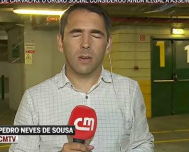Jornalista Da CMTV Leva Banho Em Direto Da Garagem Do Estádio De Alvalade 5