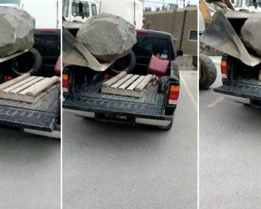 Queriam Carregar Uma Pedra Na Traseira Da Carrinha... Mas Não Era Este o Resultado Que Esperavam 5