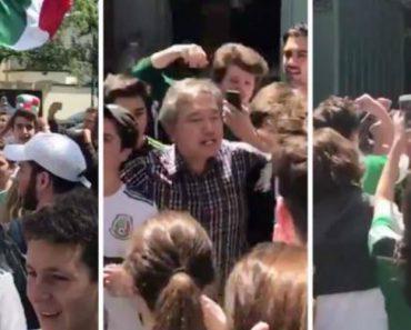 Multidão De Mexicanos Vai Até à Embaixada Da Coreia Do Sul Para Agradecer Pela Vitória Sobre a Alemanha 7