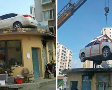 Segurança Dá Lição a Condutora Ao Contratar Grua Que Colocou Carro Mal Estacionado No Topo De Edifício 9
