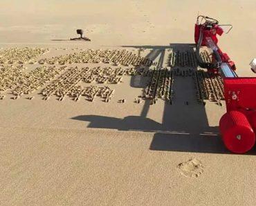 Gosta De Gadgets? Este Robot Pode Ajuda-lo a Escrever Mensagens Na Praia 3