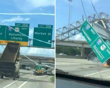 Vídeo Assustador Mostra o Momento Em Que Camião Bate Contra Sinais De Trânsito 1