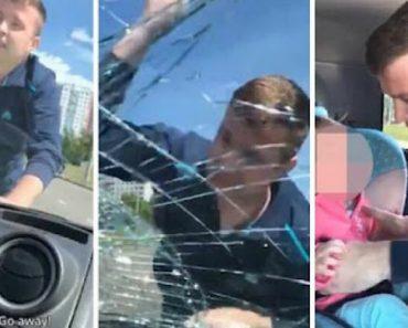 Pai Parte Vidro Do Carro Da Ex-mulher Para Levar a Filha 8