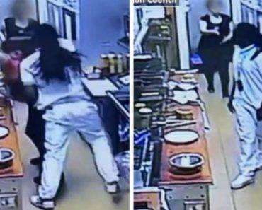 Cliente Insatisfeito Com Demora Do Seu Pedido Invade Balcão De Restaurante e Ataca Funcionária 3