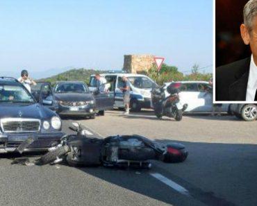 Video Mostra George Clooney a Ser Projetado Em acidente De Scooter 2