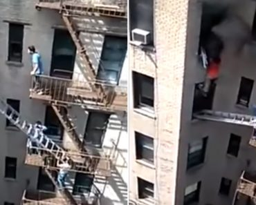Vizinhos Ajudam Homem a Escapar De Incêndio Num Apartamento 8