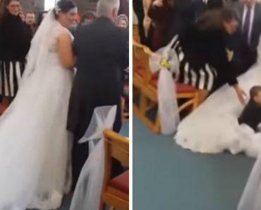 Criança Descobre a Verdadeira Razão Porque Os Vestidos De Noiva Têm Uma Cauda Tão Grande 8