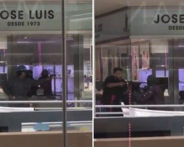 Testemunha Filma Tiroteio Durante Assalto a Ourivesaria Em Barcelona 3