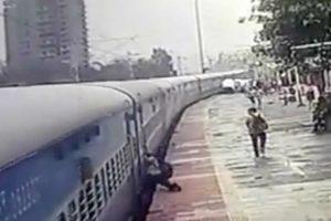Passageiro Arrastado 50 Metros Fora Do Comboio Pela Plataforma Da Estação 13