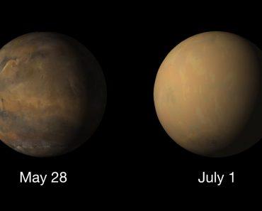 Vídeo Mostra-lhe o Impacto Da Tempestade De Areia Em Marte 5