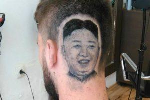 """Barbeiro Realiza Desejo Ao """"Desenhar"""" Retrato De Kim Jong-Un Na Cabeça De Cliente 10"""