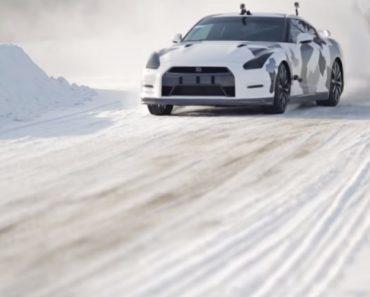 Team IceRicers Coloca Nissan GT-R a Subir Pista De Ski Na Suécia 1