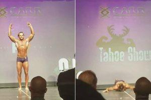 Fisiculturista Cai De Cara No Chão Ao Arriscar Salto Mortal Durante Competição 8