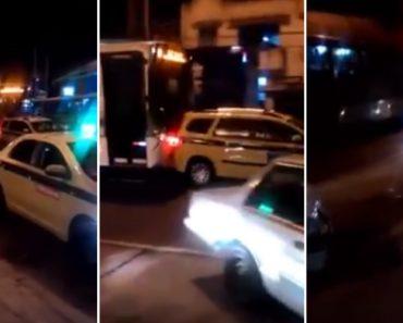 Motorista Enraivecido Empurra Táxi Parado No Meio Da Estrada No Rio De Janeiro 4