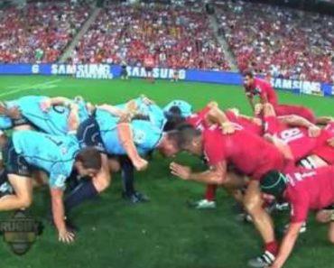 Visão De Um Jogo De Rugby a Partir De Uma Câmera Colocada No Árbitro 3