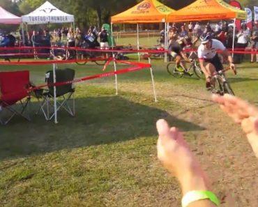 Ex-Ciclista Profissional Dá Espetáculo Durante Prova Amadora Perante Dois Obstáculos 9