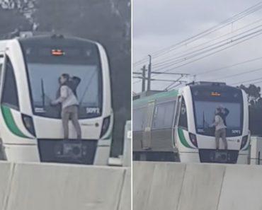 Viajou Quatro Minutos Agarrado Ao Pára-Brisas De Um Comboio a 110 km/h 4