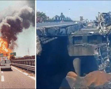 Câmaras De Vigilância Captaram a Tremenda Explosão De Um Camião Cisterna 5
