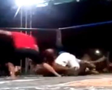 Lutador De MMA Fica Inconsciente Com Estrangulamento, Juiz Não Vê e Equipa Invade Combate Para Socorrer 8