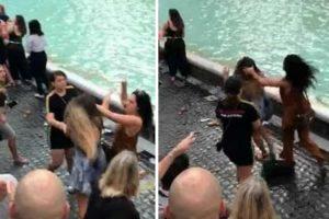 Andam à Pancada Na Fontana di Trevi Por Causa De Selfie 9