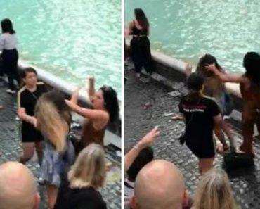 Andam à Pancada Na Fontana di Trevi Por Causa De Selfie 4
