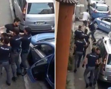 Homem Consegue Escapar De 8 Polícias Que Tentavam Detê-lo 5