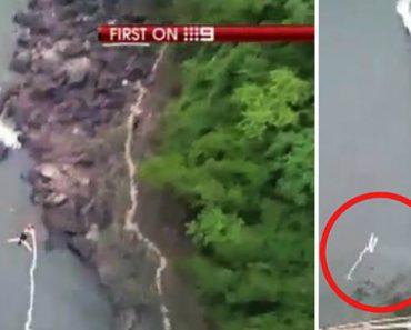 Jovem Cai De Uma Altura De 110m Depois Da Corda Do Bungee Jumping Se Partir 5