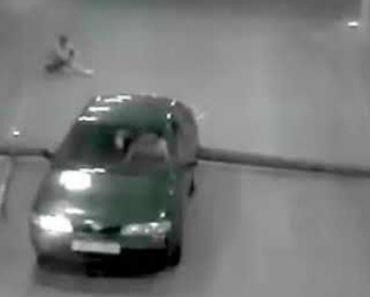 Um Dos Mais Estranhos Acidentes Alguma Vez Captados à Saída De Garagem 5