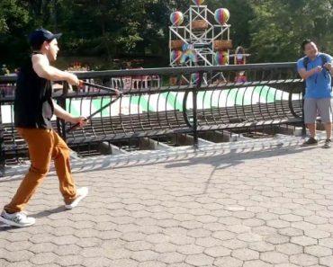 Imbecil Corta Paus De Selfie a Turistas Em Nova Iorque 8