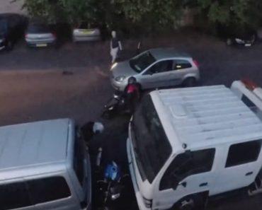 """Ladrões Tentam Roubar Moto Mas Não Esperavam Por Este Ford Fiesta """"Demolidor"""" 9"""