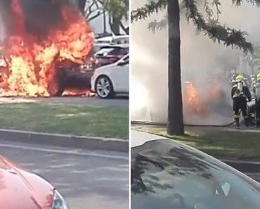 Incêndio Em Carro Causa Um Ferido e Danifica Outras Viaturas No Algarve 1