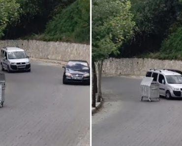Contentor Do Lixo Em Contramão Embate Em Dois Carros Que Seguiam Na Estrada 5