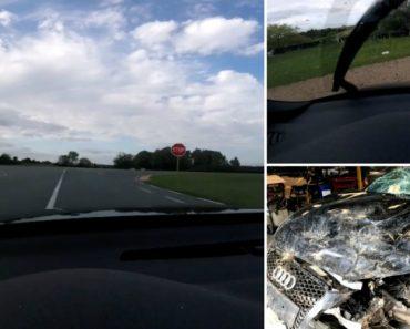 Acidente Arrepiante De Um Audi RS3 Que Sai Da Estrada a 200 km/h 8