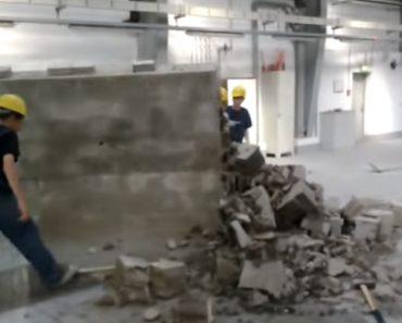 Brincadeira Em Obra De Construção Quase Termina Mal Para Um Dos Trabalhadores 4