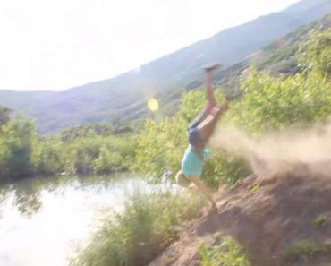 Mulher Tenta Fazer Salto De Bicicleta e Acaba Por Fazer Desastroso Mergulho No Rio 1