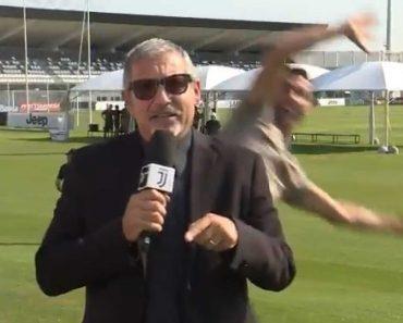 Jornalista Da Juventus TV Teve Visita Inesperada De Cristiano Ronaldo Durante Um Direto 6