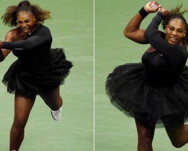 Após Ser Criticada Por Usar Fato Justo... Serena Williams Joga Com Saia De Tule 4
