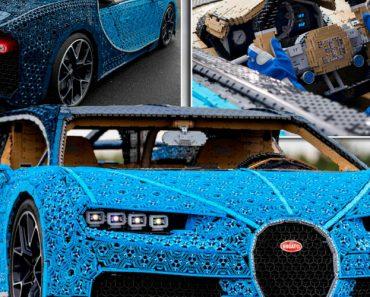 LEGO Usa 1 Milhão De Peças Para Construir Funcional Bugatti Chiron De Tamanho Real 6
