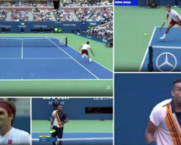 Roger Federer Faz Ponto Incrível Deixando Todos De Boca Aberta... Até o Adversário 6