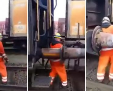 Trabalhador Mostra a Forma Mais Extrema De Unir Duas Carruagens 2