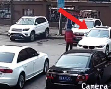 Condutora Tenta Estacionar BMW e Quando Finalmente Consegue... Acontece o Inesperado! 1