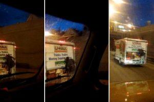 Homem Tenta Assaltar Carrinha De Distribuição e Acaba Pendurado Durante Viagem 9