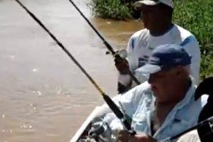 """Pescador """"Convence"""" Jacaré a Desistir De Roubar Pescaria 10"""