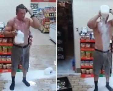 Homem Invade Supermercado Para Tomar Banho De Leite 4