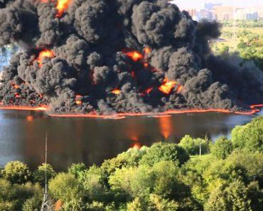 Imagens Impressionantes Do Rebentamento De Um Oleoduto Na Rússia 3