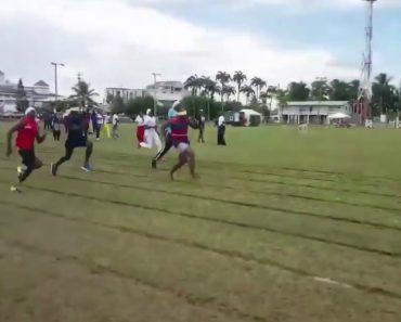 A Desafiante Prova De Atletismo Em Que Os Participantes Correm De Olhos Vendados 4