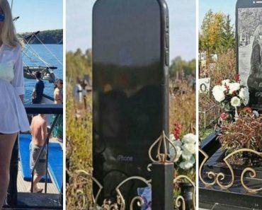 Pai Cria Lápide Gigante Em Forma De iPhone Em Homenagem à Falecida Filha 1